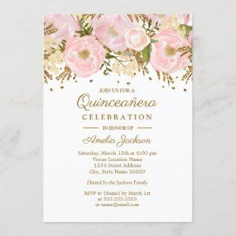 Pretty Blush Pink Gold Floral
