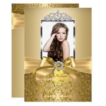 Pretty Gold Bow & Tiara