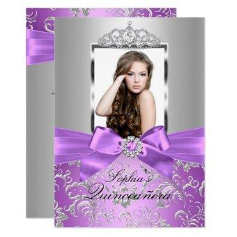 Pretty Purple Silver Bow & Tiara