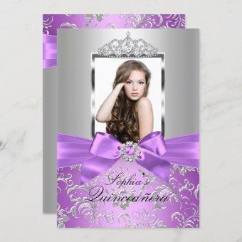 Pretty Purple Silver Bow & Tiara