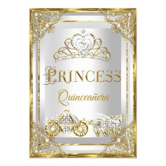 Princess Pearl Gold White carriage