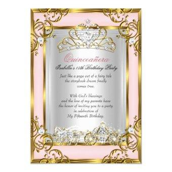 quinceanera invitations beautiful and personalized