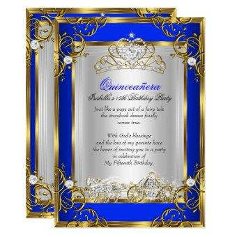 Princess 15th Birthday Royal Blue 2