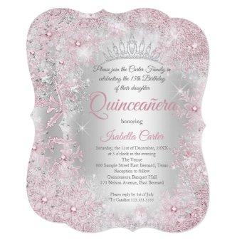 Princess 15th Blush Pink Silver Party