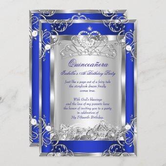 Princess 15th Party Deep Blue Silver