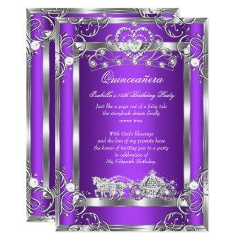 Princess 15th Party Purple Silver