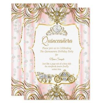 Princess carriage gold pink white