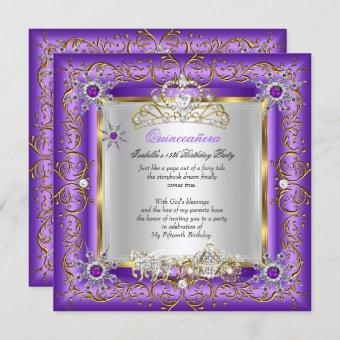 Princess Elite Birthday Gold Purple