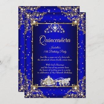 Princess Elite Royal Blue Gold Sparkle