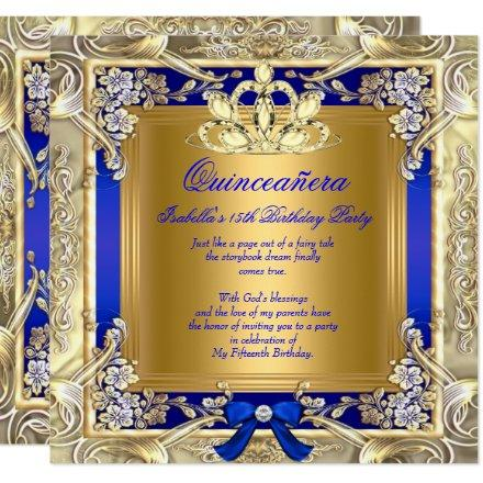 Princess Gold Royal Blue Silver Party
