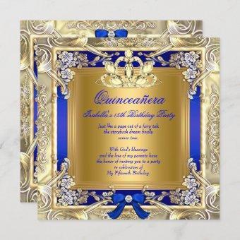 Princess Gold Royal Blue Silver Party