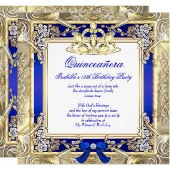 Princess Gold Royal Blue Silver White