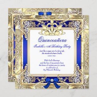 Princess Gold Royal Blue Silver White