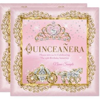 Princess Quinceañera magical Blush Pink Gold
