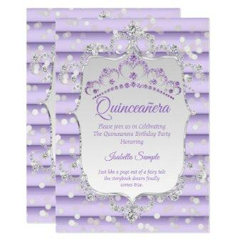 Princess purple lilac diamond silver