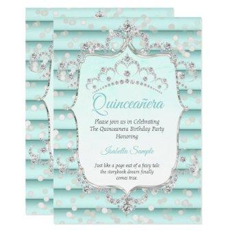 Princess soft teal blue diamond
