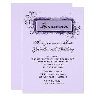 Purple Abstract Floral Birthday Party