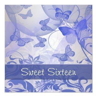 Purple Butterfly Bubbles Star Sweet Sixteen