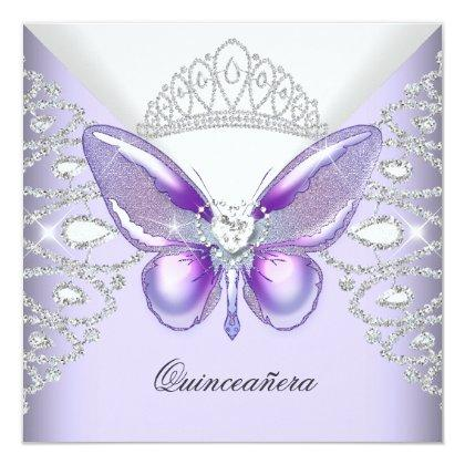 Purple Butterfly Tiara 15th Party