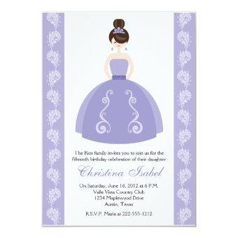 Purple Dress Brunette
