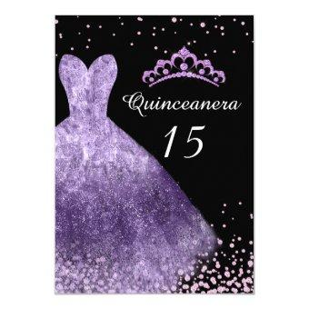 Purple Dress Gown 15th Birthday Party