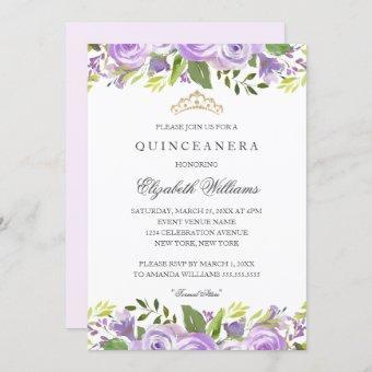 Purple Elegant Watercolor Floral