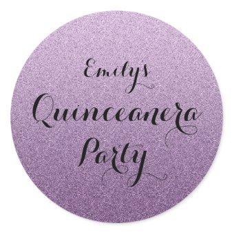 Purple Faux Glitter Ombre Sticker