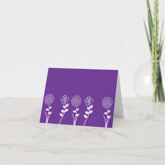 Purple Flowered Note