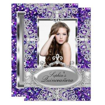 Purple Glitter & Diamond Glamour