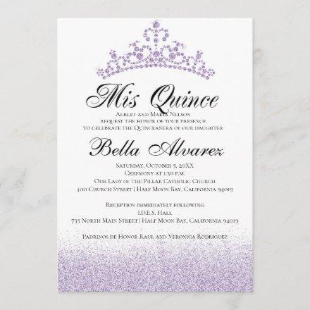 Purple Glitter Quinceañera Mis Quince