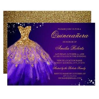 Purple Gold Sparkle Dress
