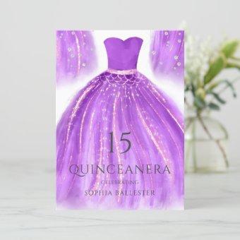 Purple & Gold Wonderful Mermaid Dress