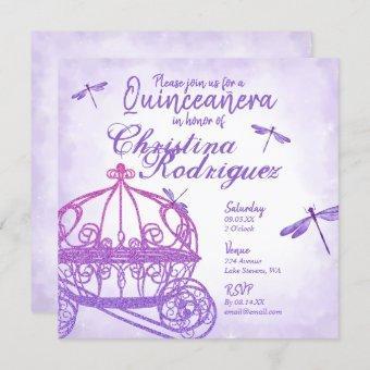 Purple Horse Carriage Quinceañera