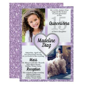 Purple Lavender Quinceañera Cumpleaños