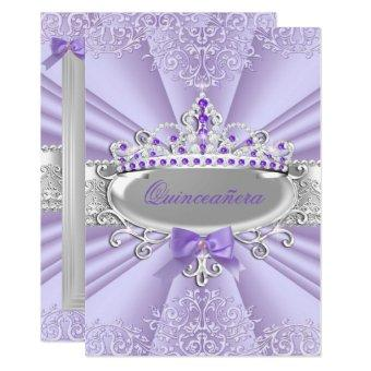 Purple Lavender Tiara Damask Party