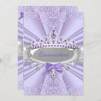 Purple Lavender Tiara Damask Party