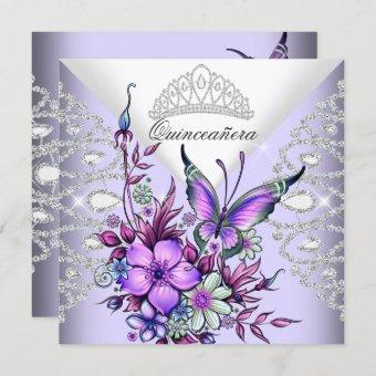 Purple Lilac Butterfly Tiara Floral