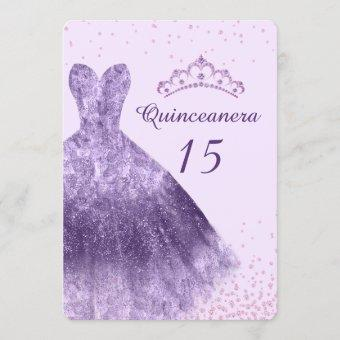 Purple Lilac Party Dress Gown 15th