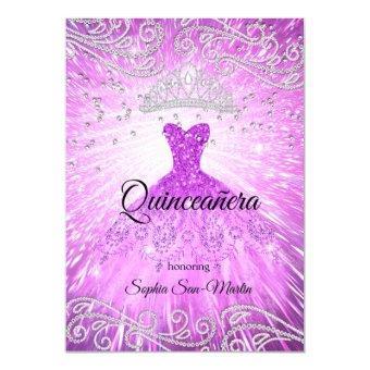 Purple Magenta Dress Silver Birthday
