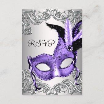 Purple Masquerade Party RSVP