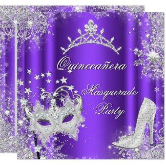 Purple Masquerade 15th Party Tiara