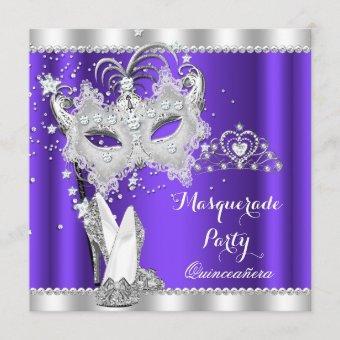 Purple Masquerade Mask Hi Heels
