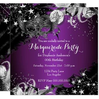 Purple plum Sparkle Magical Night Masquerade Party