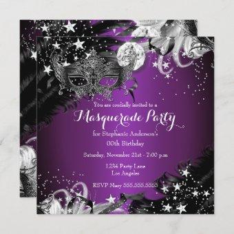 Purple plum Sparkle Magical Night Masquerade Party