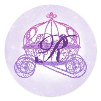 Purple Princess Carriage Stickers