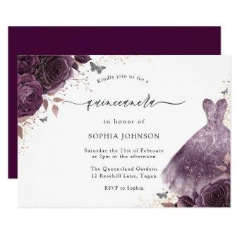 Purple Rose Sparkle Dress Floral Party