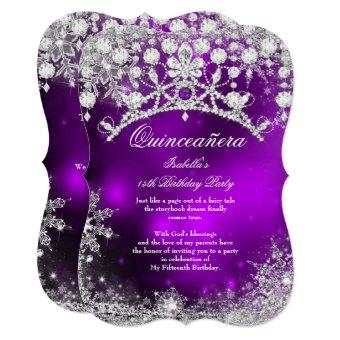 Purple silver 15th Winter Wonderland