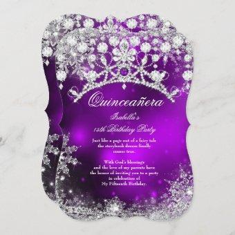 Purple silver 15th Winter Wonderland