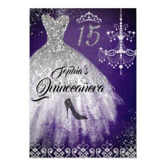 Purple Silver Sparkle Diamond Dress