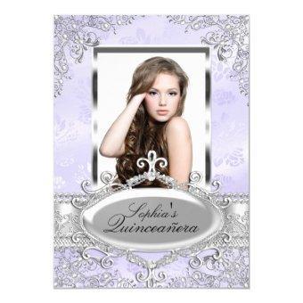 Purple Silver Vintage Glamour Photo